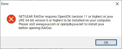 RAIDar Error JAVA必須